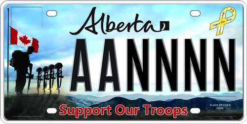 Support our Troops Licence Plate available July 23 | by Government of Alberta