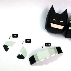 วิธีทำโมเดลกระดาษแบทแมน (Batman Papercraft Model) 018
