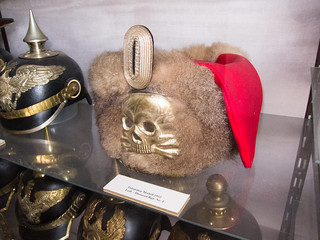 Fur hat with skull