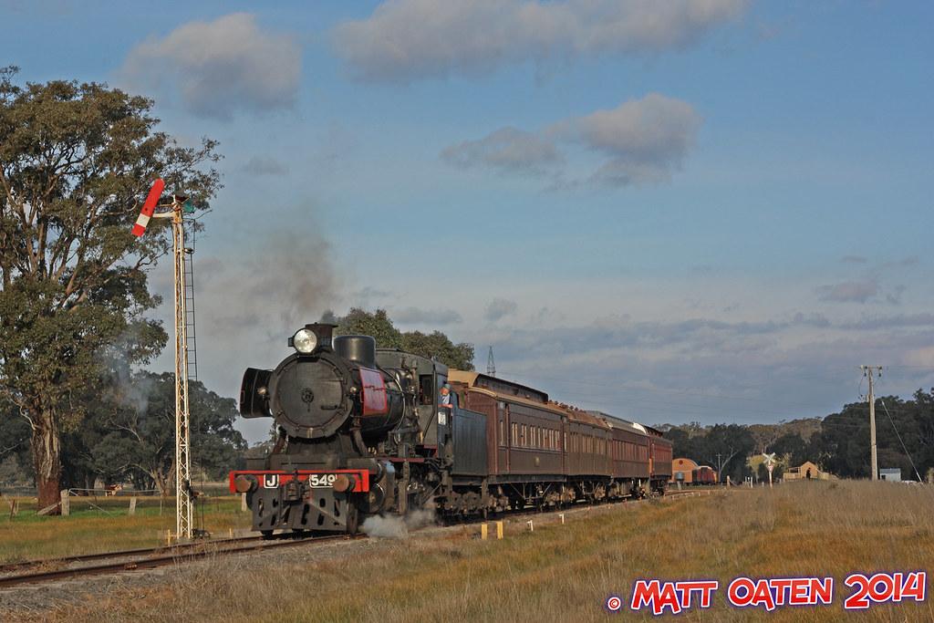 J549 Departing Muckleford by MattOatenVR