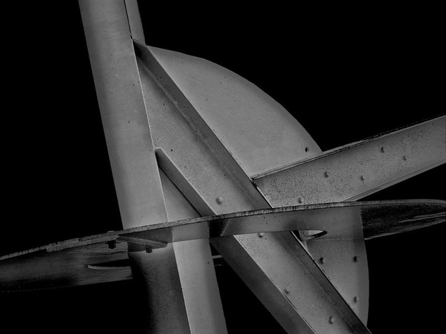 Pax Jerusalem by Mark di Suvero - Detail Study in Color & in Black & White (2A)
