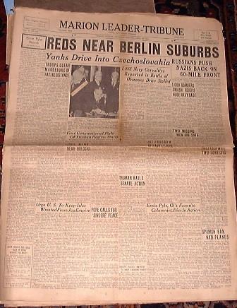 Periódico época Segunda Guerra Mundial