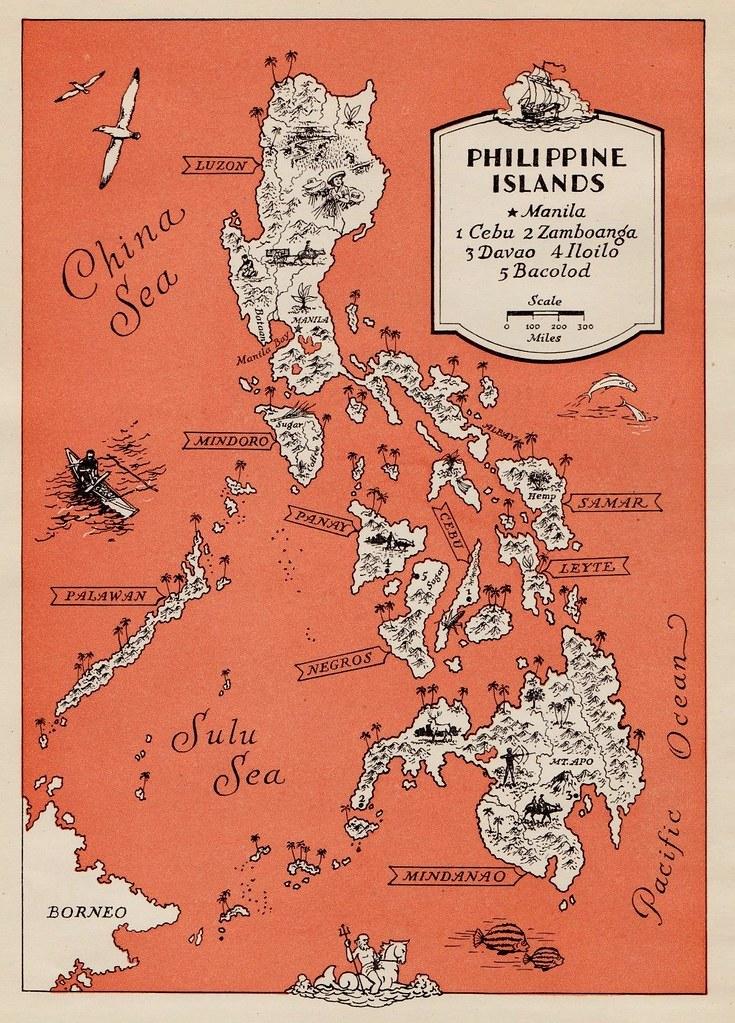 Philippine Islands Map. 1945 | Eduardo De Leon | Flickr
