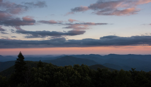 brasstown bald north georgia mountains young harris highest point ga nikon d810 clouds sky sunset forest