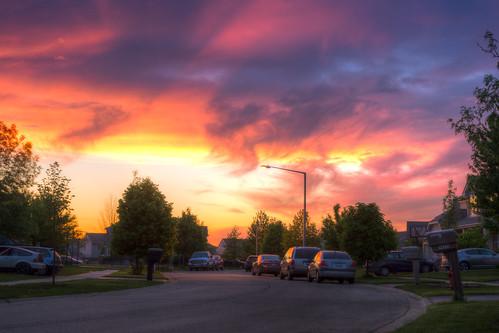street sunset sky illinois nikon dusk il suburbs d800 burbs plainfield theburbs bryanjaronik