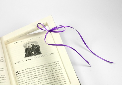Unbreakable Vow Harry Potter Ring Proposal Hollow Book Box With Ribbon | by Virtualdistortion