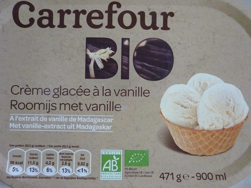 Carrefour Bio Vanilla Ice Cream