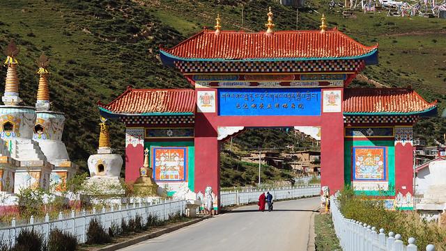 The Entrance Gate of Larung Gar, Tibet 2013