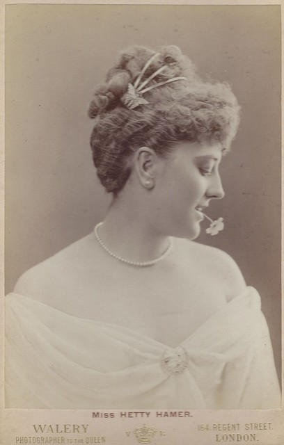 Miss Hetty Hamer, Actress (Cabinet Card by Walery, 164 Regent Street, London)