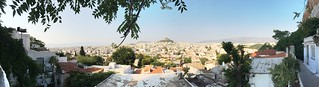 Panorama of Athens from Anafiotika, a little maze of Cycladic houses below the Acropolis #greece | by tomconte