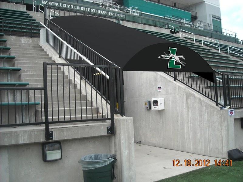 Loyola Rendering Stadium Awning