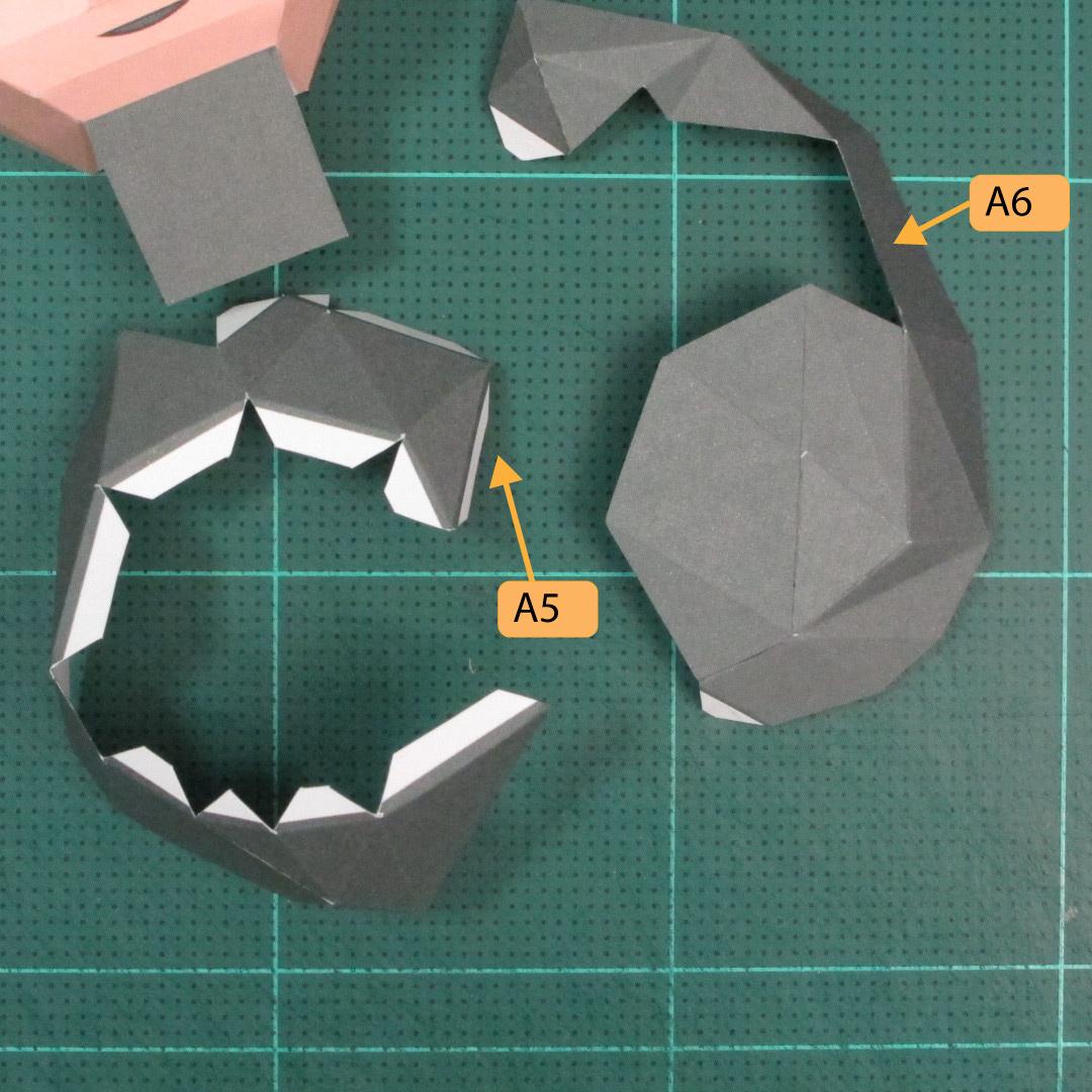 วิธีทำของเล่นโมเดลกระดาษซุปเปอร์แมน (Chibi Superman  Papercraft Model) 012