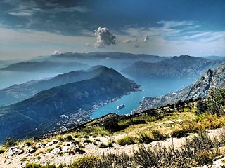 View of Bay of Kotor from Mount Lovcen, Montenegro | by Jasmine Halki