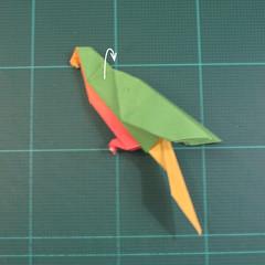 วิธีพับกระดาษเป็นรูปนกแก้ว (Origami Parrot) 036