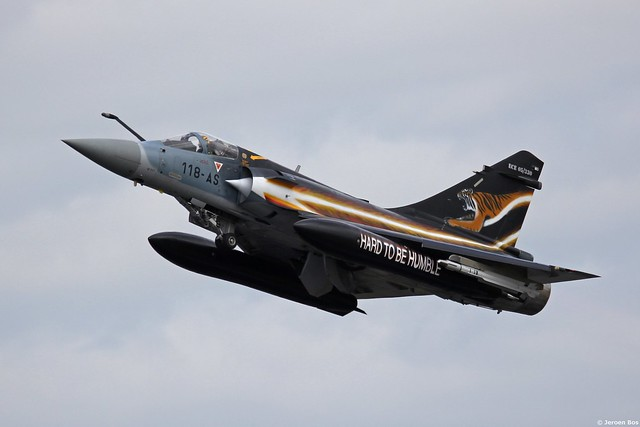 Mirage 2000-5F 51/118-AS 'Hard to be Humble' taking off for the morning sortie, NTM 2014 Schleswig-Jagel