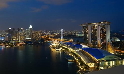 Marina Bay Sands from Level 33, Marina Bay Financial Centre, Singapore | by Romain Pontida