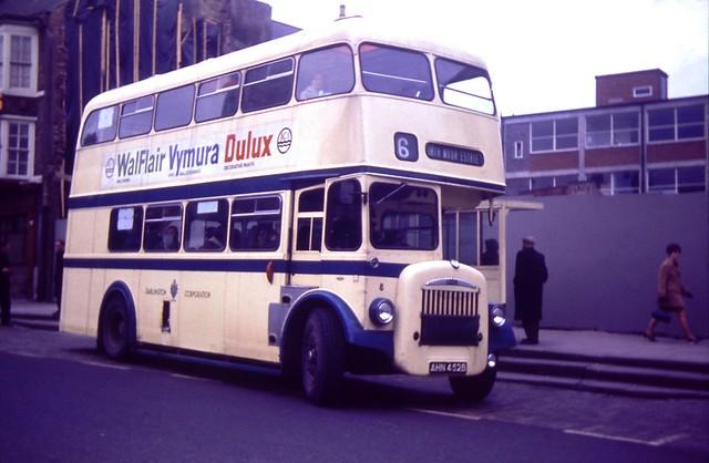 Darlington Corporation Transport Bus 8 Daimler Roe 1967