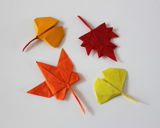 Autumn leaves | by paper folding artist redpaper