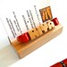 Maple Desk Name / Business Card Holder by DustyNewt Scott