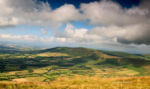 A Green valley in Ireland.