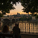 Watching the sun set behind Prague Castle, Czech Republic