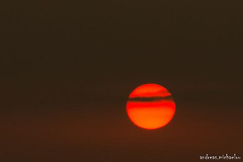 sunset sun cyprus nicosia