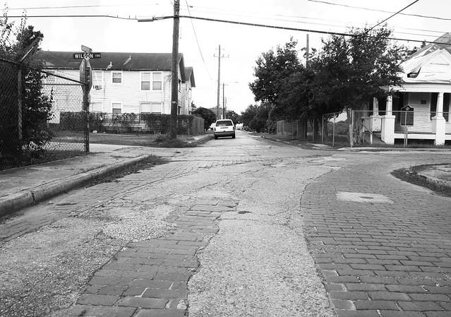 Vanishing Freedmen's Town, Houston, Texas 1409091033bw