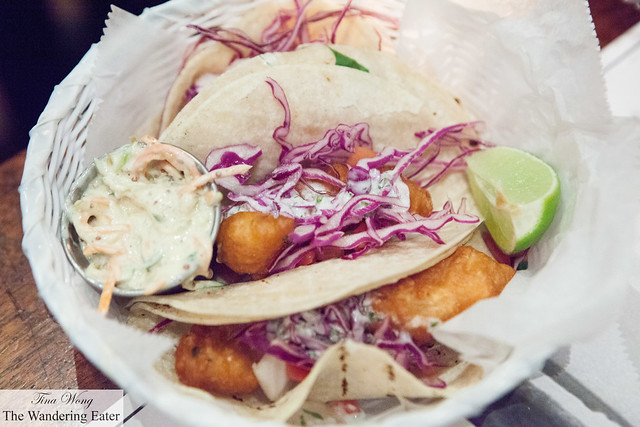 Tacos Capedos (fried fish tacos)