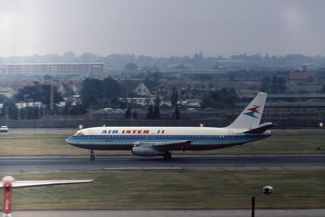 F-BTTF Air Inter Dassault Mercure 100 seen departing London Heathrow on runway 28R - a rare visitor indeed