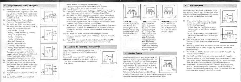 HPM Digital Timer Instruction Manual Page 2 | D8175LIMDP