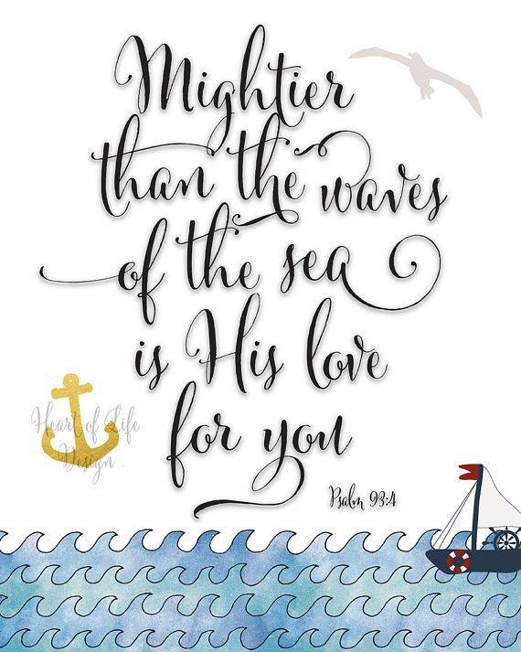 Valentine\'s Day - Instant nautical bible verse art printab ...
