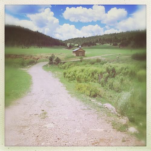 road new horse usa mountains southwest church mexico desert meadow chapel dirt valley mora