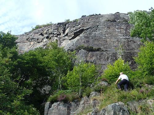 Andy checking a route   by Masa Sakano