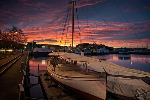 clouds sunrise boats pentax tasmania hobart limited maritimemuseum k5 ononesoftware smcpda15mmf40edal