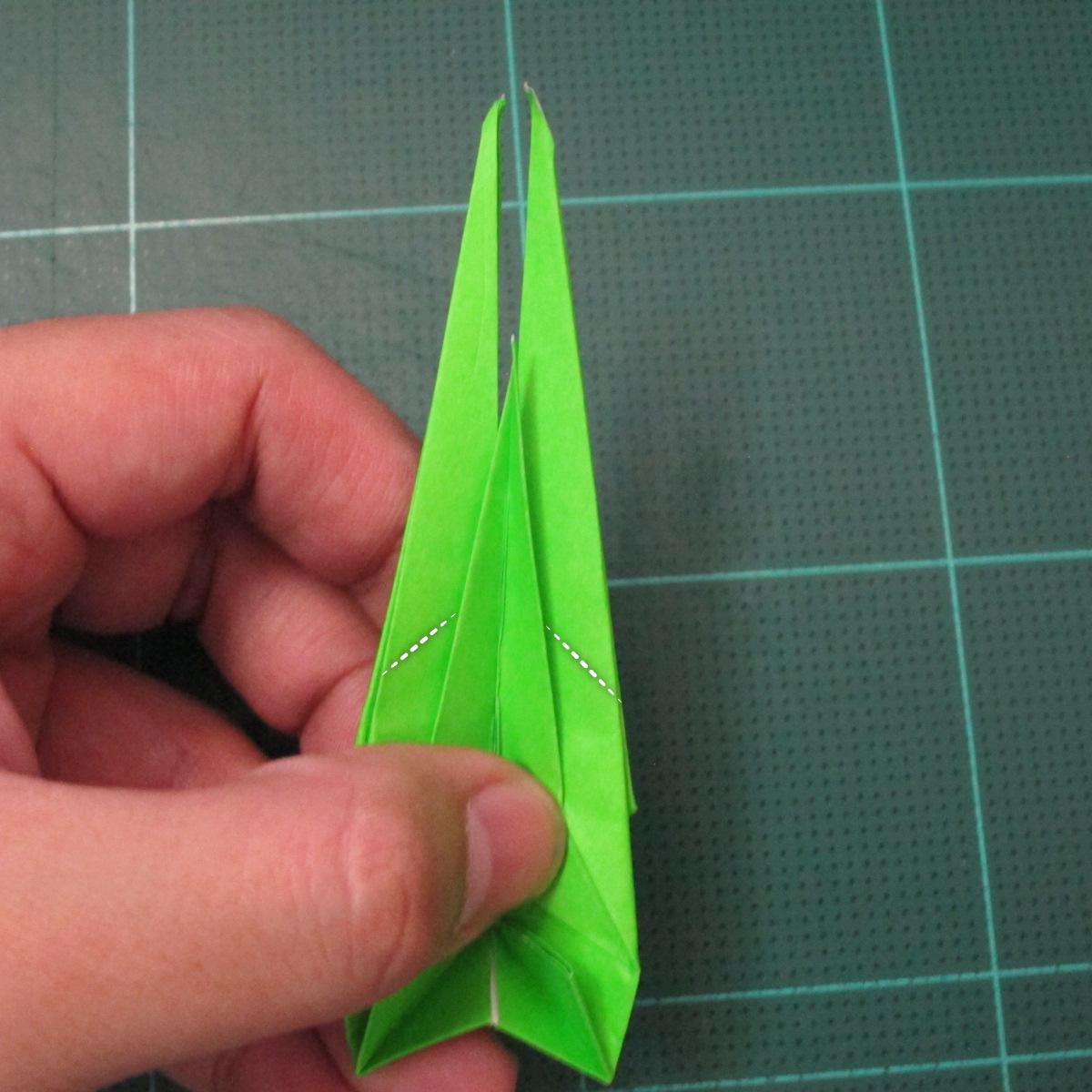 วิธีพับกระดาษเป็นรูปหอยทาก (origami Snail) 025