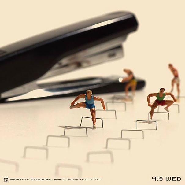 Miniature Calendar.Miniature Calendar Dioramas Tanaka Tatsuya 21 Oimoko0114 Flickr