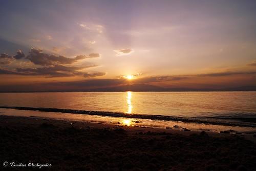 blue sunset red sea sky orange beach water colors beautiful yellow clouds island amazing nice sand europe mediterranean waves aegean greece thassos