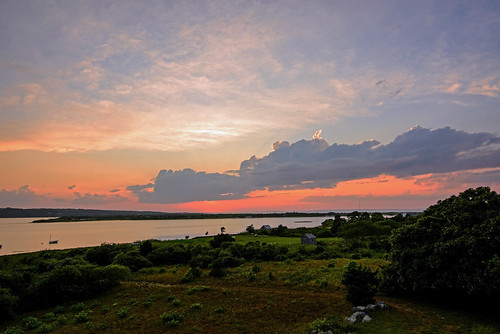 sunset summer sky clouds landscape island evening nikon dusk massachusetts newengland coastal marthasvineyard tranquil menemsha waterscape d600