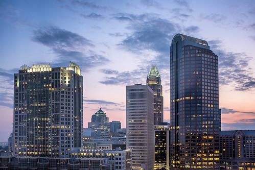 brianeden charlotte downtown fuji fujifilm nc northcarolina sky skyline sunrise westin x100s unitedstates