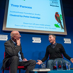 Tony Parsons on stage at the 2014 Edinburgh International Book Festival |