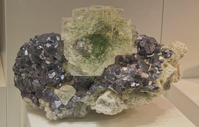 Fluorite & Galena, Gibraltar Mine, Mexico