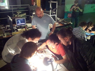 Realtime Hardware Hack compo at #chaosconstructions 2014