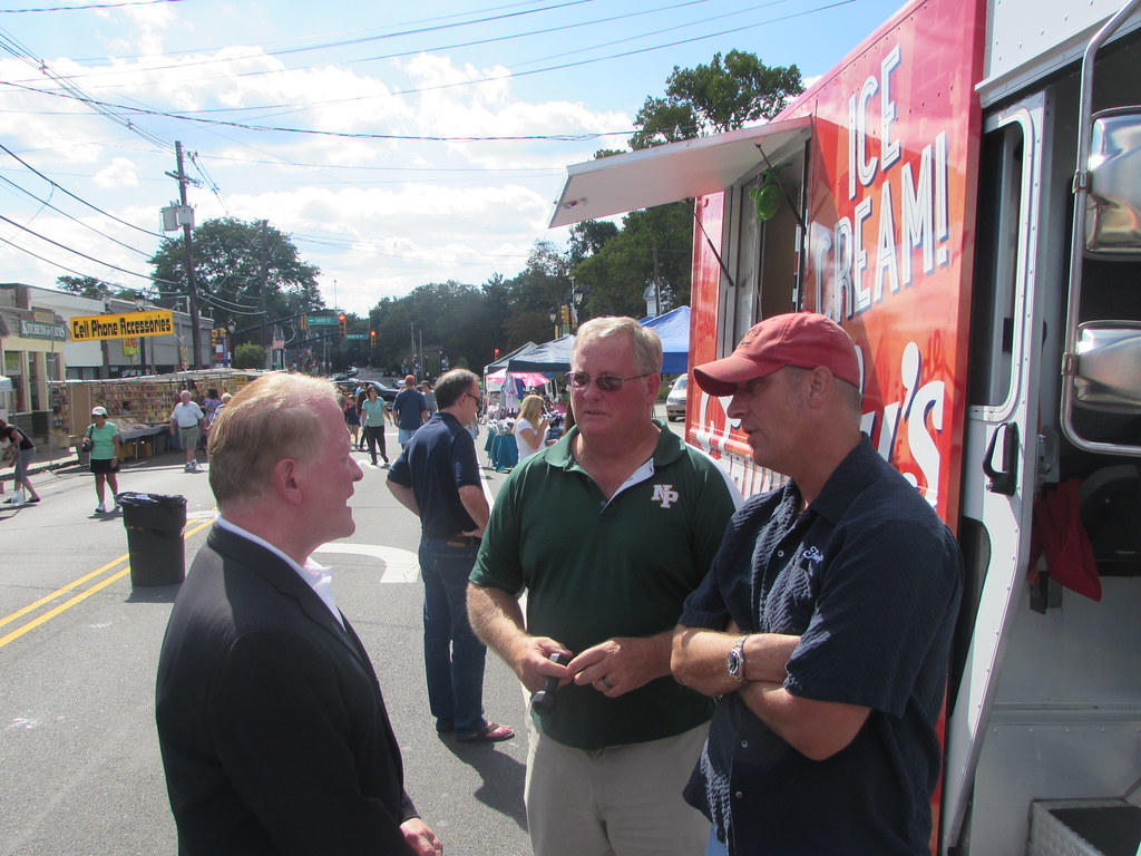 Stopping by the New Providence Street Fair | Leonard Lance