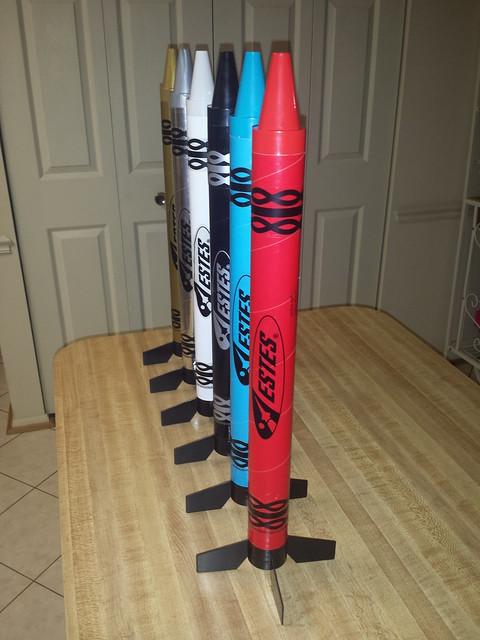 Estes Atomic Aqua Crayon Rocket