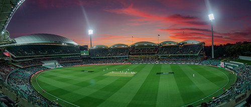 cricket testcricket sport sports team adelaide adelaidecbd adelaideoval stadium ground arena pitch sunset southafrica australia sa southaustralia panorama landscape stunning wow beautiful amazing photo photogenic grandstand seat view panoramic event colourful sundown night nightime afterdark dark cricketing olympusem10 olympus olympusomd