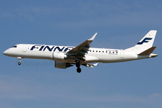 OH-LKO Finnair E-190 Manchester Airport