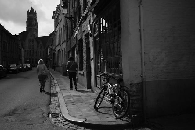 at a corner of Bruges