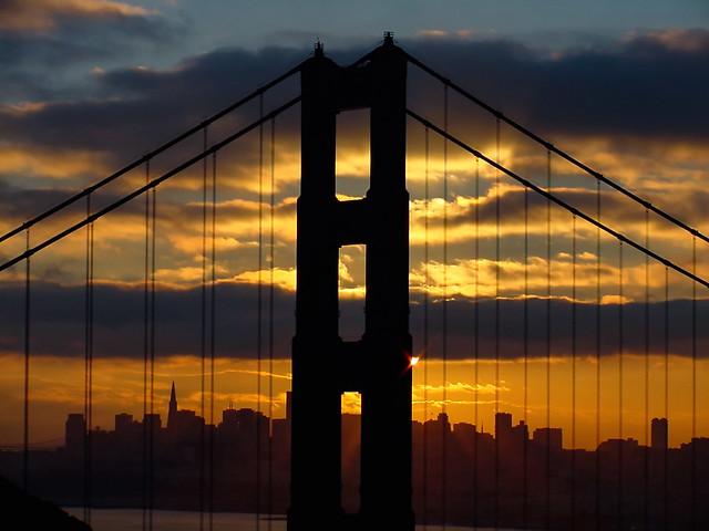 Sunrise through The Bridge