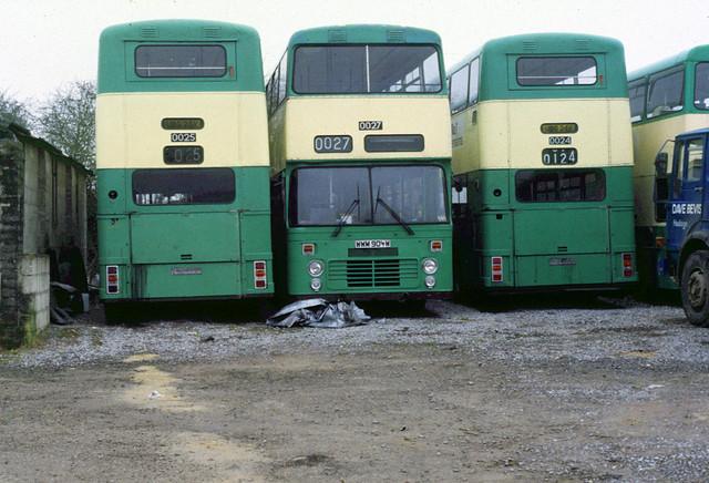 1987-03-08 UBG 25V, WWM 904W, UBG 24V Dennis Dominator-Willowbrook ex Merseyside 0025, 0027, 0024.  Weymouth