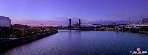 longexposure sunset sky oregon portland landscape outdoors nikon scenic bridges pacificnorthwest fullframe fx d800 waterscape nikond800 afsnikkor1635mmf4gedvr leebigstopper
